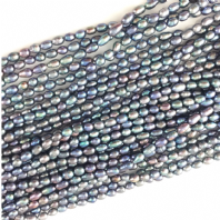 Cultured Freshwater Pearl Beads 6-7mm Peacock